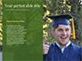 University Graduate Wears Black Cap with Yellow Tassel slide 9