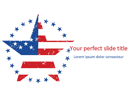 Star with USA Flag Presentation Template, Master Slide