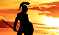 Spartan Warrior Silhouette Presentation Template