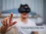 Blurred Man in VR Headset slide 1