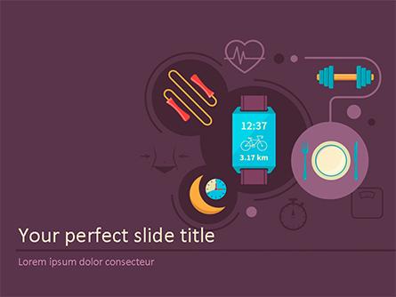 Healthy Lifestyle Illustration Concept Presentation Template, Master Slide