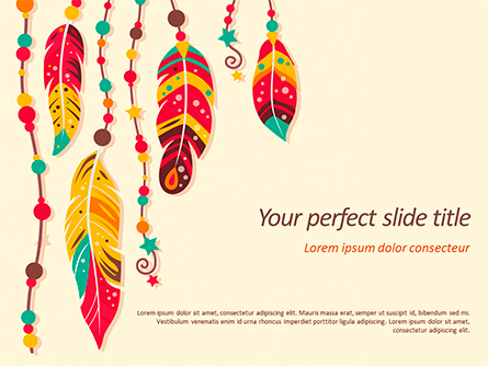 Boho Style Presentation Template, Master Slide