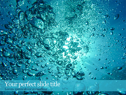 Under Water Bubbles Presentation Template, Master Slide