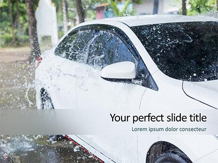 Car Wash Service Presentation Template, Master Slide