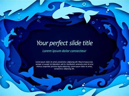 Ocean Paper Cut Style Presentation Template, Master Slide