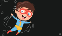 Super Hero Kid Presentation Template