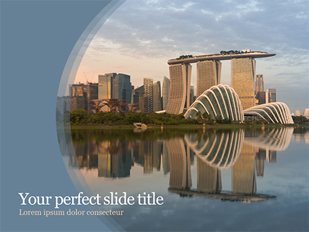 Landscape of Singapore Presentation Template, Master Slide