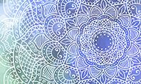 Blue Mandala Flower Presentation Template Presentation Template