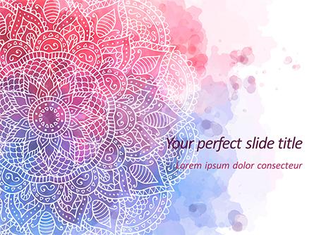 Pink and Blue Mandala Flower Presentation Template Presentation Template, Master Slide