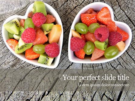 Healthy Fruit Salad Presentation Template, Master Slide