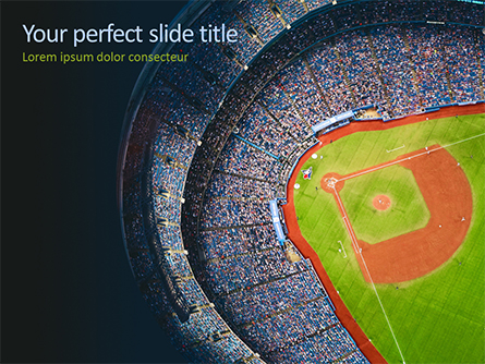 Baseball Stadium Presentation Template, Master Slide