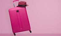 Pink Suitcase Presentation Template