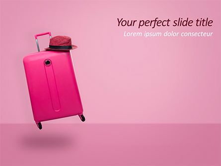 Pink Suitcase Presentation Template, Master Slide