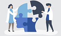 People Connecting Jigsaw Pieces of a Head Together Presentation Template