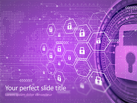 Information Security and Control Presentation Template, Master Slide