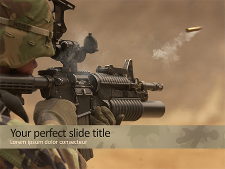 Shot from Automatic Weapon Presentation Template, Master Slide