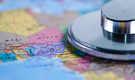 Stethoscope on Africa Map Presentation Template