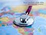 Stethoscope on Africa Map slide 1