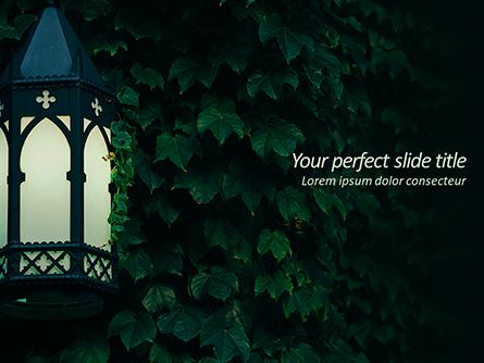 Lantern on Ivy Covered Wall Presentation Template, Master Slide