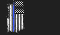 Thin Blue Line American Flag Presentation Template