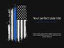 Thin Blue Line American Flag slide 1
