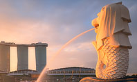 Morning View to Marina Bay Sands Presentation Template