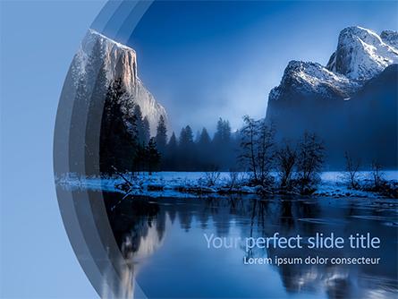 Magnificent Winter Landscape Presentation Template, Master Slide
