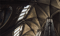 Medieval Cathedral Ceiling Presentation Template