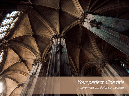 Medieval Cathedral Ceiling Presentation Template, Master Slide