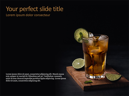Iced Tea Presentation Template, Master Slide