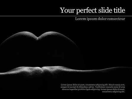Sexy Naked Female Presentation Template, Master Slide