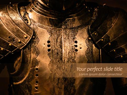 Royal Knight Armor Presentation Template, Master Slide