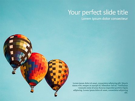 Hot Air Balloon Flights Presentation Template, Master Slide