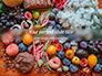 Summer Fruits and Vegetables slide 1