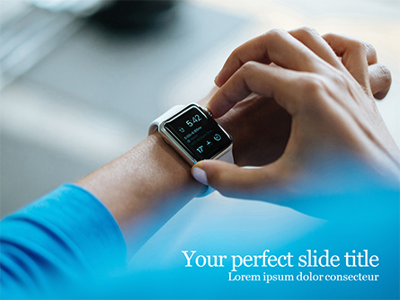 White Smartwatch Presentation Template, Master Slide