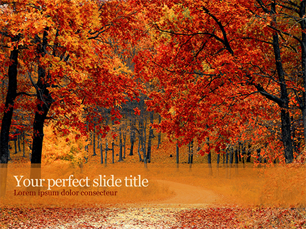 Beautiful Autumn Forest Presentation Template, Master Slide