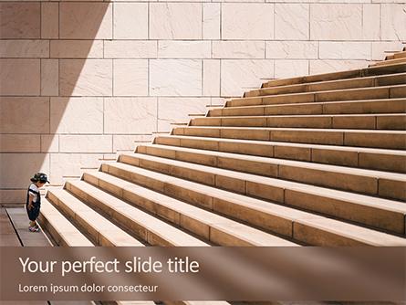 The Beginning of a Big Way Presentation Template, Master Slide