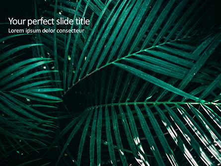 Palm Leaves Presentation Template, Master Slide