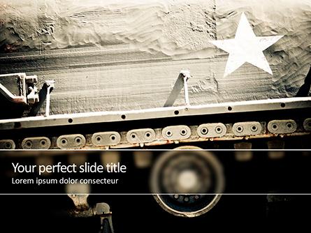 Military Tank Presentation Template, Master Slide
