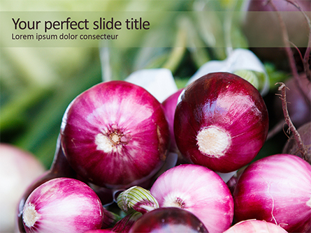 Onion Presentation Template, Master Slide