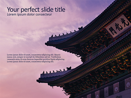 Chinese Temple Presentation Template, Master Slide