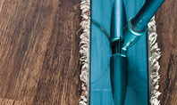 Wood Floor Cleaning with Mop Presentation Template