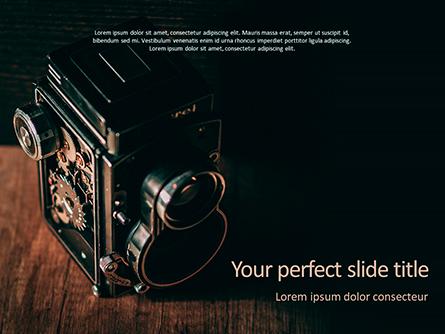 Old Vintage Camera Presentation Template, Master Slide