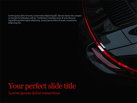Part of a Black Car Presentation Template, Master Slide
