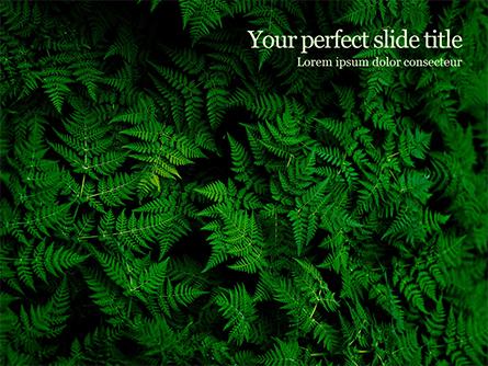 Fern Leaves Presentation Template, Master Slide
