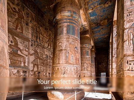 The Hieroglyphs of Ancient Egypt Presentation Template, Master Slide