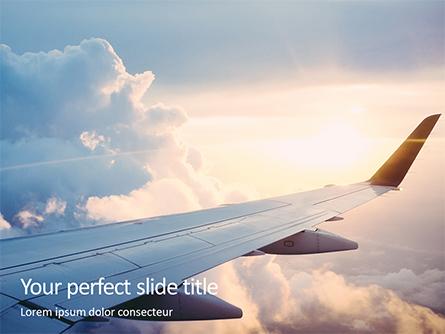 Airplane Flying Presentation Template, Master Slide