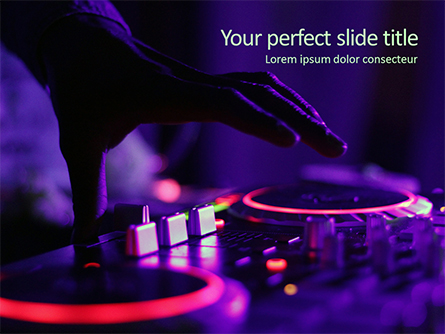 DJ Remote Presentation Template, Master Slide