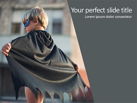 Superhero Boy Presentation Template, Master Slide