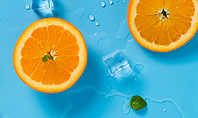 Summer Background with Oranges Presentation Template